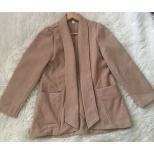 CHICO'S Camel Open Front Jacket